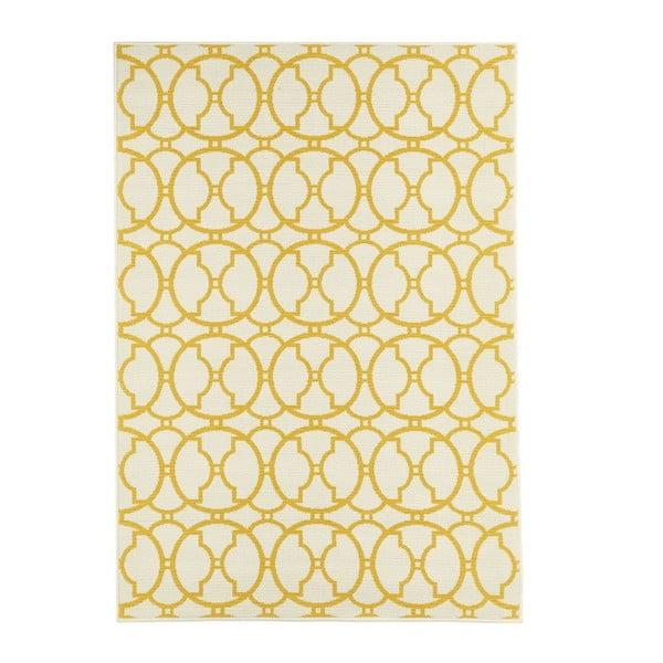 Béžovo-žlutý venkovní koberec Floorita Interlaced, 160 x 230 cm