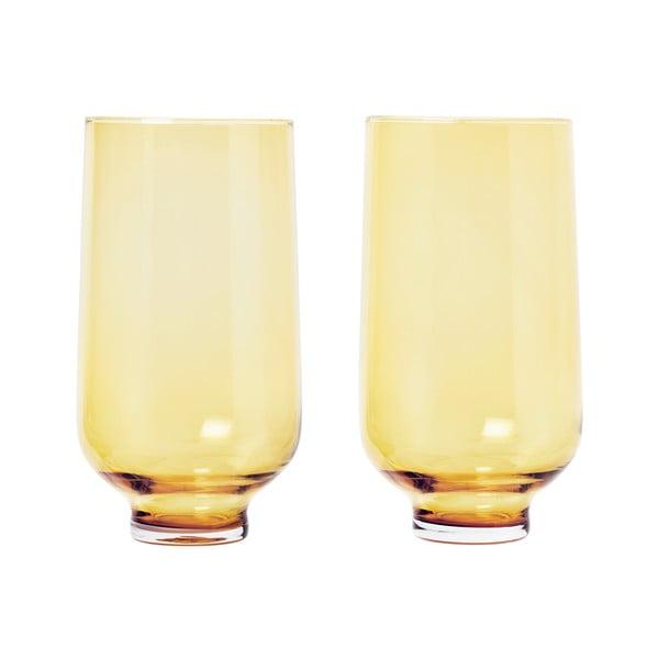 Sada 2 žltých pohárov Blomus Flow,400ml