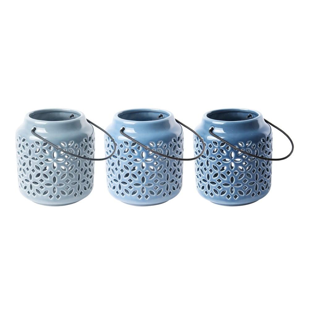 Sada 3 keramických luceren na svíčku Ego Dekor, ø10 cm