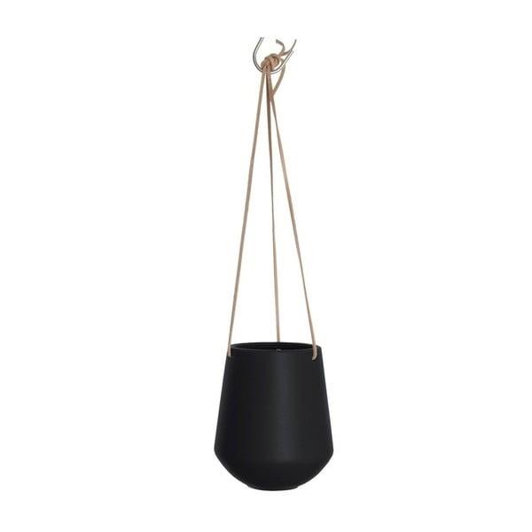Ghiveci suspendat PT LIVING Skittle, ⌀ 13,5 cm, negru