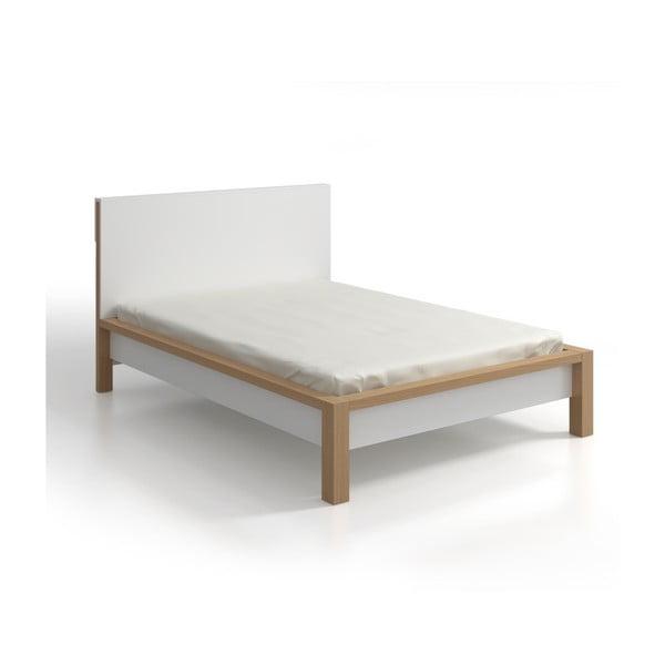 Pat dublu din lemn de pin SKANDICA InBig, 180 x 200 cm