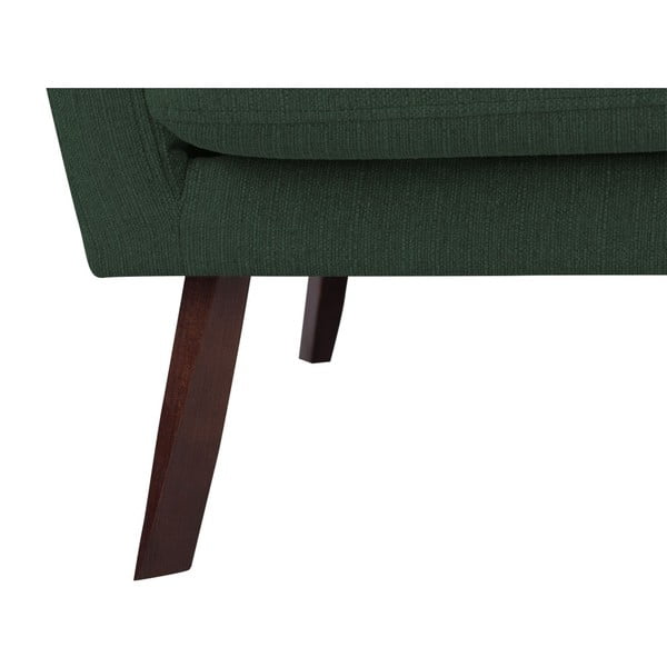 Canapea cu 3 locuri Mazzini Sofas Elena, verde sticlos