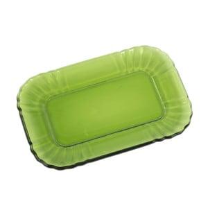 Skleněný tácek Kaleidos, zelený