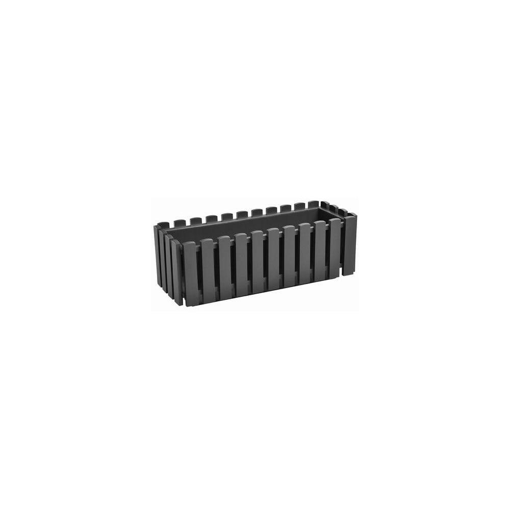 Antracitově šedý samozavlažovací truhlík Gardenico Fency Smart System, délka 50cm