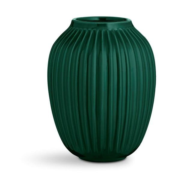 Zelená kameninová váza Kähler Design Hammershoi,výška 25 cm