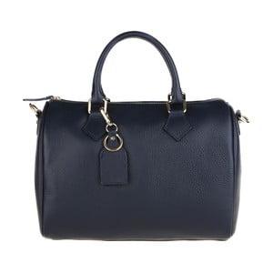 Modrá kožená kabelka Chicca Borse Rossi