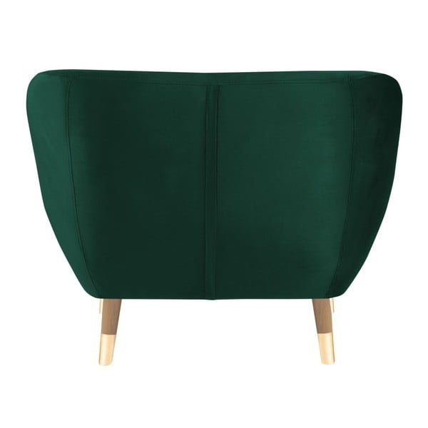 Tmavě zelené křeslo Mazzini Sofas Amelie