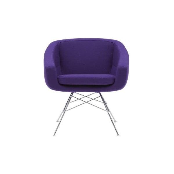 Ciemnofioletowy fotel Softline Aiko Felt Melange Dark Lilac