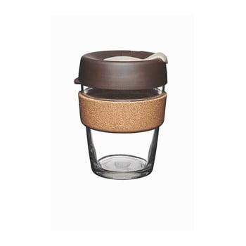 Pahar de voiaj cu capac KeepCup Brew Cork Edition Almond, 340 ml imagine