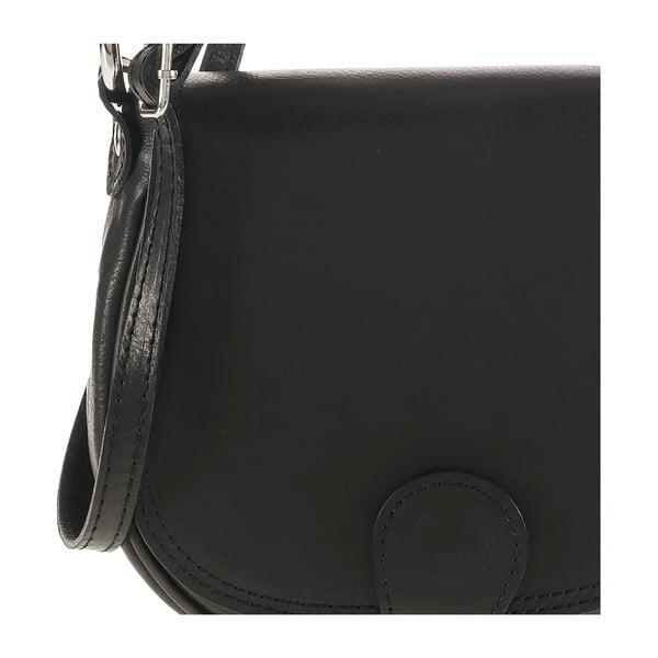 Kožená kabelka Ore Diece Livorno, černá