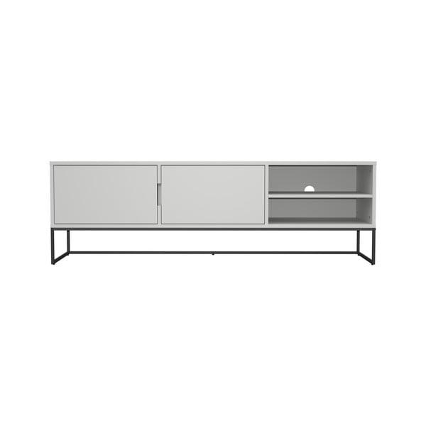 Masă TV cu picioare metalice Tenzo Lipp, lățime 176 cm, alb