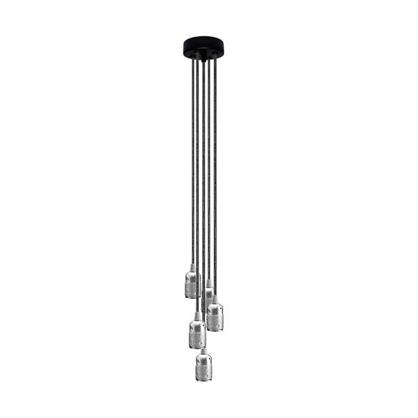 Pětice závěsných kabelů Uno, černá/stříbrná