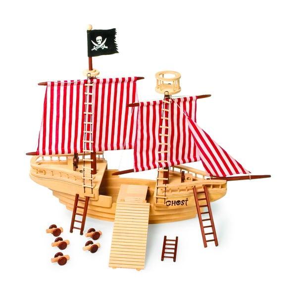 Drewniana łódź piracka Legler Pirate