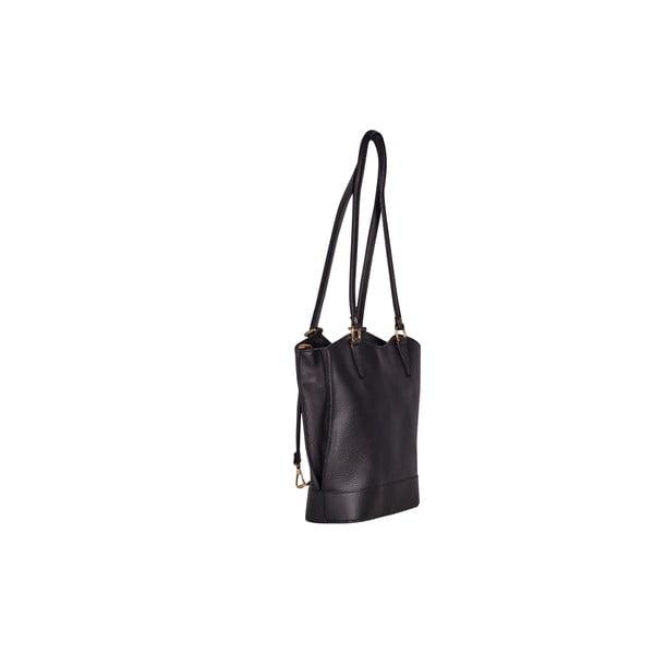 Kožená kabelka/batoh Jamie, černá