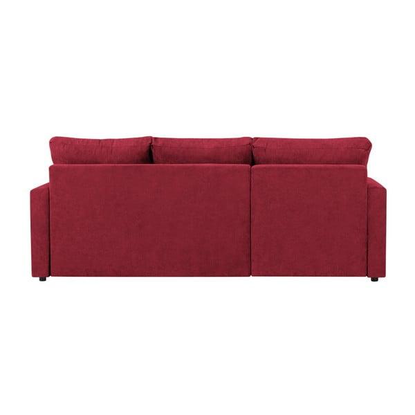 Červená třímístná variabilní rohová rozkládací pohovka s úložným prostorem Melart Andy