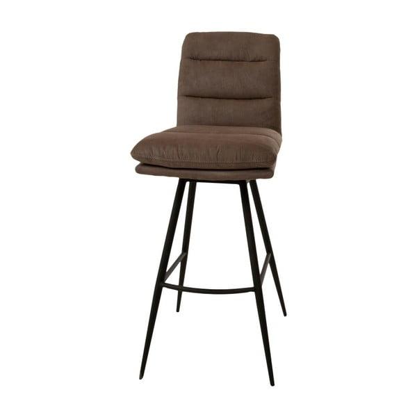 Tmavě hnědá barová židle Canett Uri