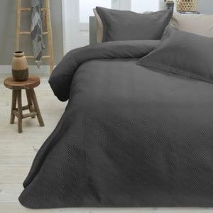Set cuvertură și fețe de pernă Dreamhouse Wave, 260 x 250 cm, negru