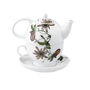 Porcelánová čajová konvice se šálkem Flutter