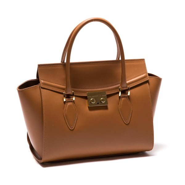 Hnědá kožená kabelka Roberta M Riccarda