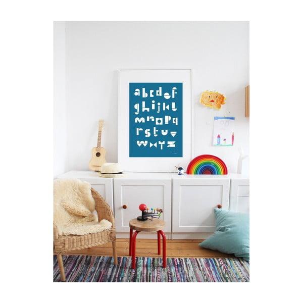 Plakát SNUG.ABC, 50x70 cm, modrý