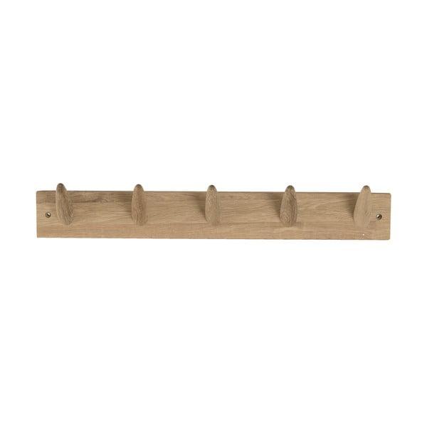 Wieszak ścienny z drewna dębowego Canett Uno, szer. 60 cm