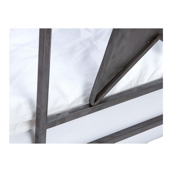 Pat din metal, pentru copii, SOB Mathias, 140 x 200 cm
