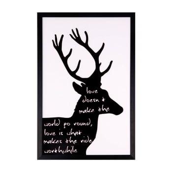 Tablou Sømcasa Black Deer, 40 x 60 cm imagine