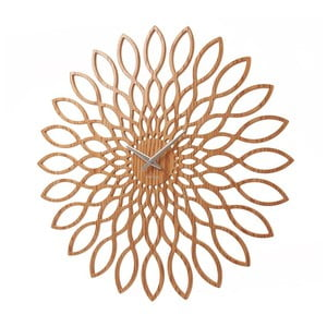 Ceas de perete Karlsson Sunflower Wood