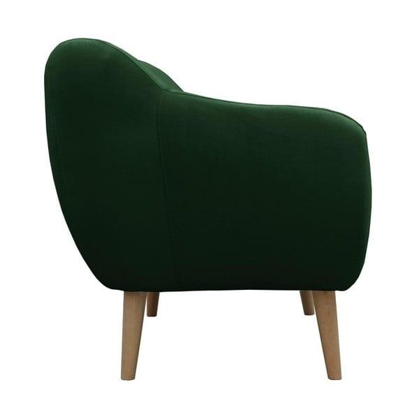 Tmavě zelená pohovka JohnsonStyle Luna French Velvet