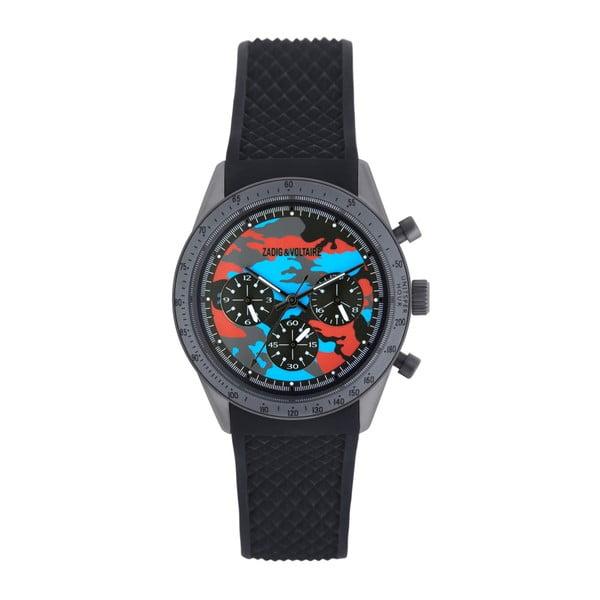 Pánské černé hodinky Zadig & Voltaire Army