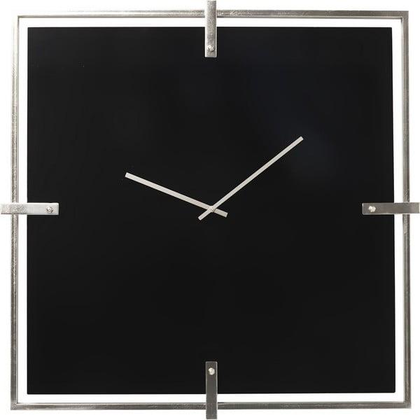 Černé pochromované nástěnné hodiny Kare Design Black Mamba