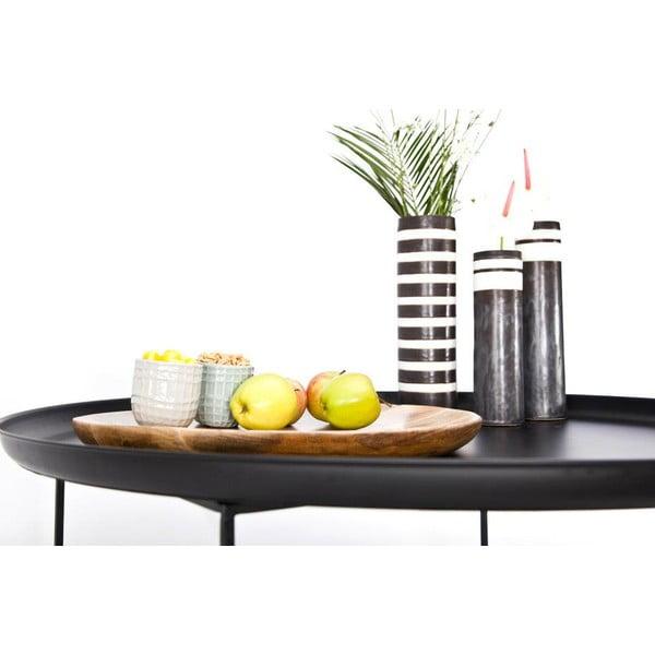Černý malý odkládací stolek NORR11 Duke