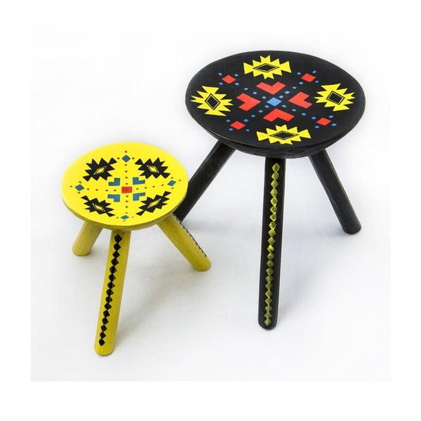 Sada 2 ručně malovaných stoliček Ludos