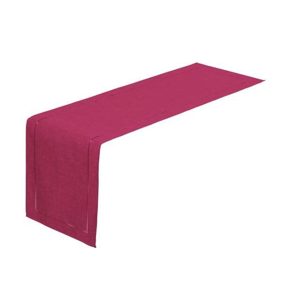Fuchsiově růžový běhoun na stůl Unimasa, 150 x 41 cm