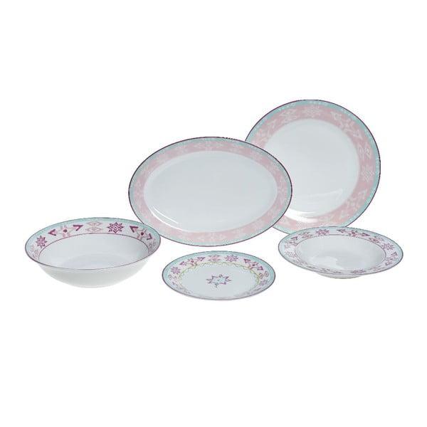 Set porcelánového nádobí Romantic, 20 ks