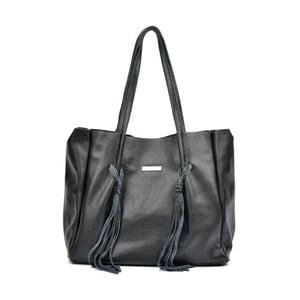 Černá kožená kabelka Luisa Vannini Nina