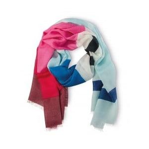 Šátek Remember Stripy Blue, 190x70 cm