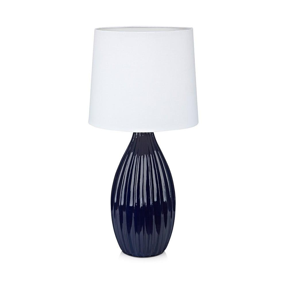 Modro-bílá stolní lampa Markslöjd Stephanie