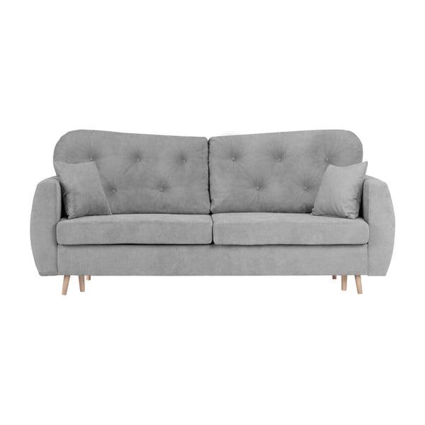 Orchid szürke kihúzható háromszemélyes kanapé, ágyneműtartóval - Mazzini Sofas