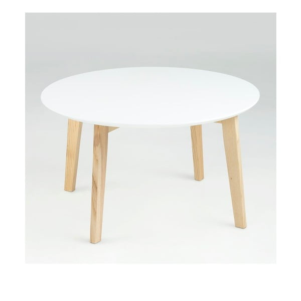Biały stolik Actona Molina, ⌀ 80 cm