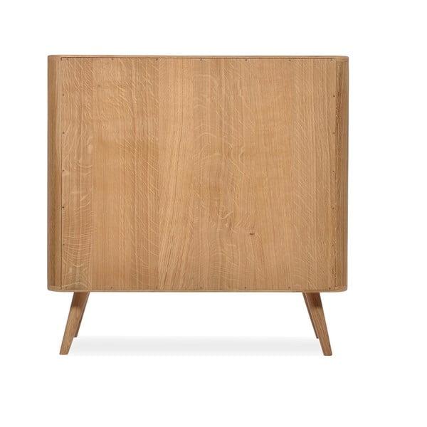 Komoda se zásuvkami z dubového dřeva Gazzda Ena One,90x90cm