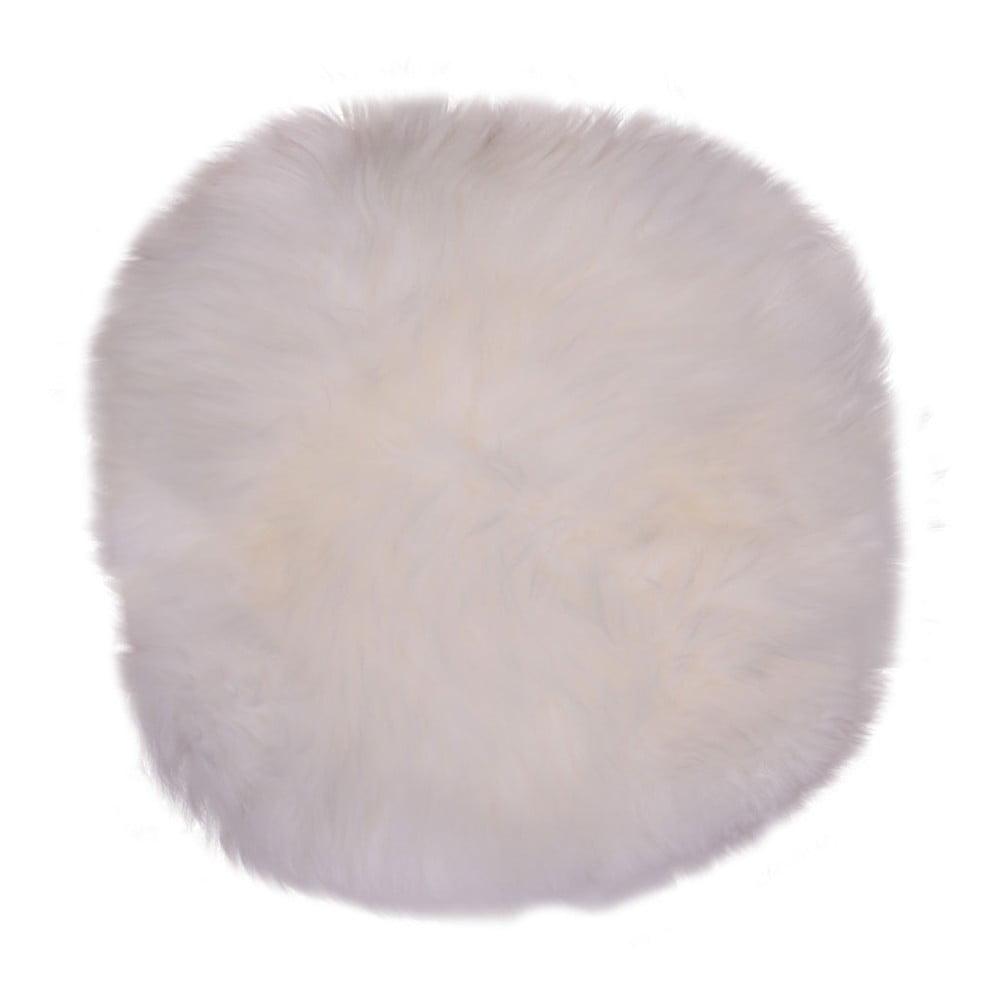 Bílá ovčí kožešina House Nordic Circle, ⌀ 35 cm