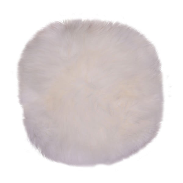Biała skóra owcza House Nordic Circle, ⌀35cm