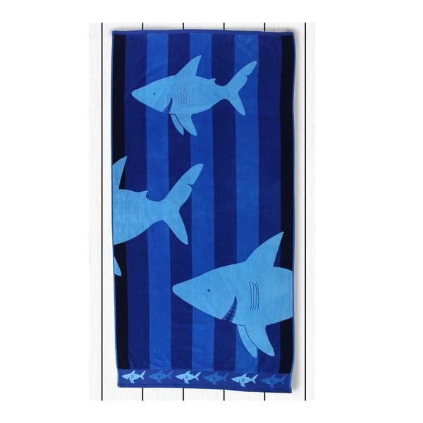 Prosop baie din bumbac DecoKing Sharky, 90 x 180 cm