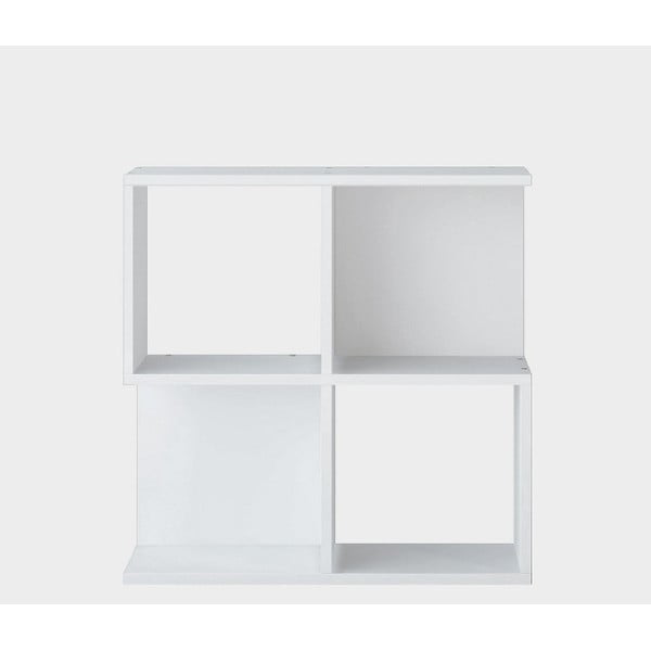 Bílý odkládací stolek Martha, výška60cm