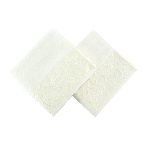 Sada dvoch bielych uterákov Empire, 90 × 50 cm