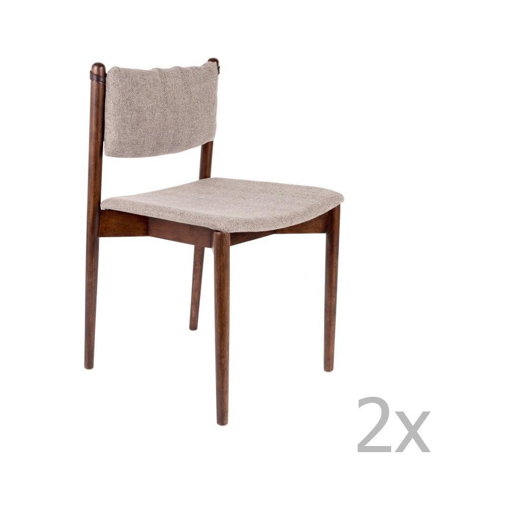 Sada 2 židlí z akáciového dřeva Dutchbone Torrance