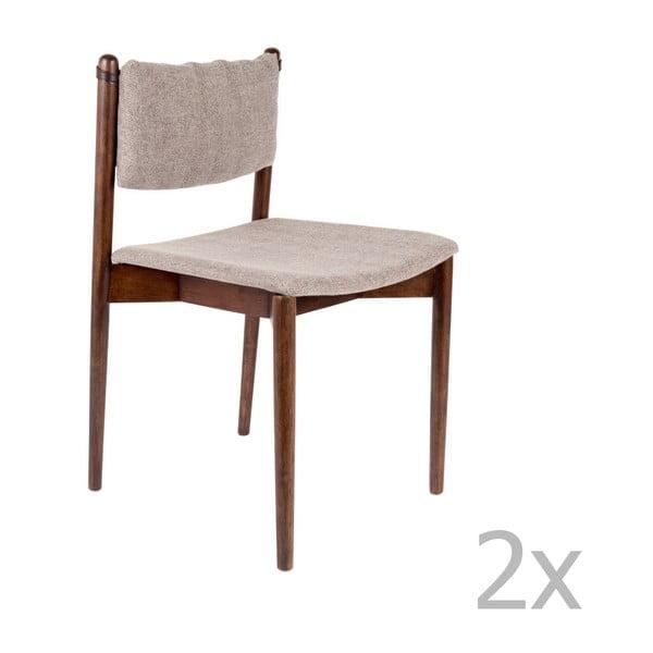 Set 2 scaune din lemn de salcâm Dutchbone Torrance