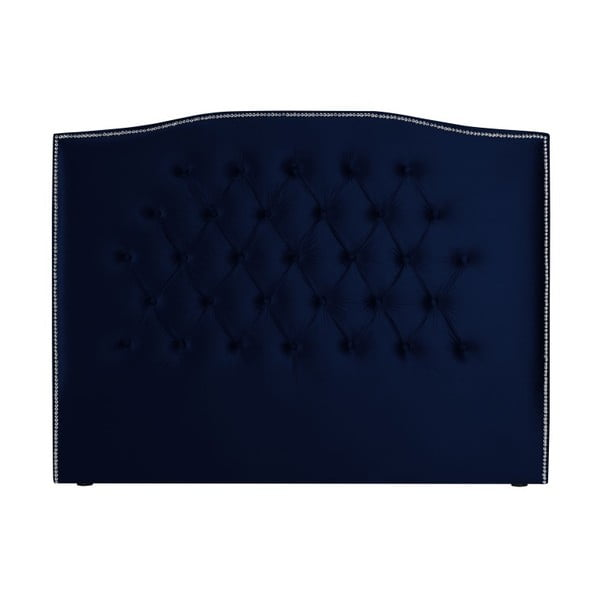 Námořnicky modré čelo postele Mazzini Sofas, 140 x 120 cm