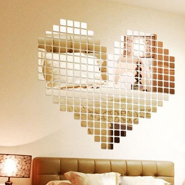 Set autocolante oglindă Ambiance Mosaic, 100 buc.